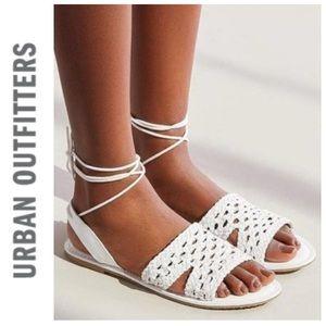 NEW Urban Outfitters Luna crochet slingback sandal